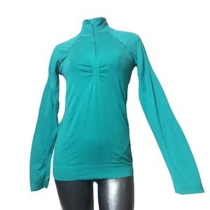LUCY Teal Long Sleeve Partial Zip Track Jacket